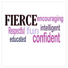 FIERCE Wordle Poster