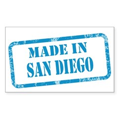 MADE IN SAN DIEGO, CA Decal