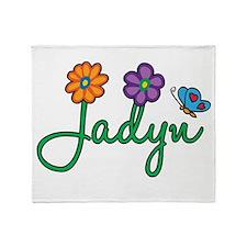 Jadyn Flowers Throw Blanket