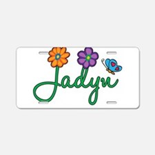 Jadyn Flowers Aluminum License Plate