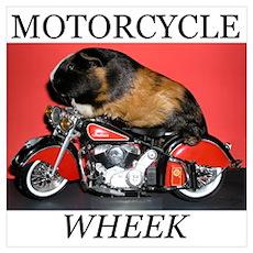 Motorcycle Wheek! Poster