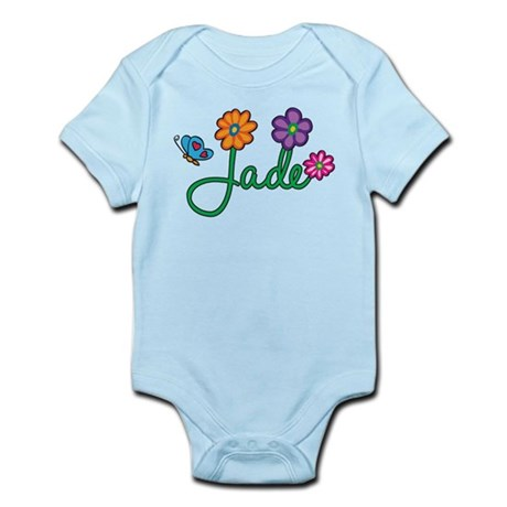 Jade Flowers Infant Bodysuit