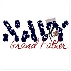 Navy Grandfather Poster