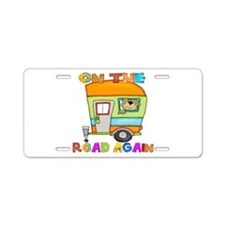 On the road again Aluminum License Plate