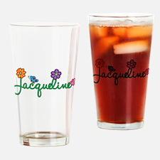 Jacqueline Flowers Drinking Glass