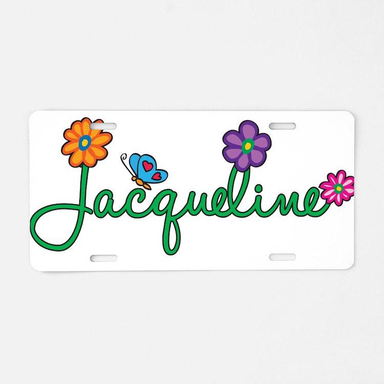 Jacqueline Flowers Aluminum License Plate