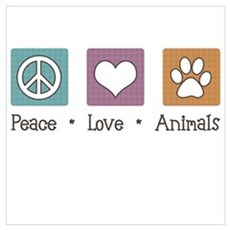 Peace Love Animals Canvas Art