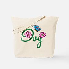 Ivy Flowers Tote Bag