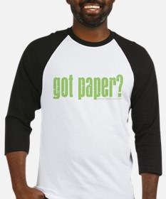 got paper? V.2 - Green Baseball Jersey