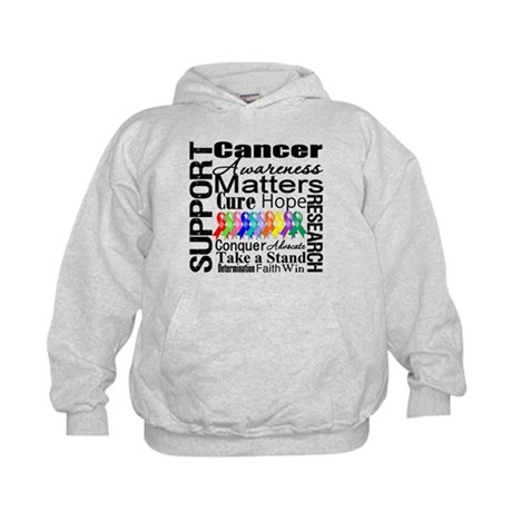 Support All Cancers Kids Hoodie