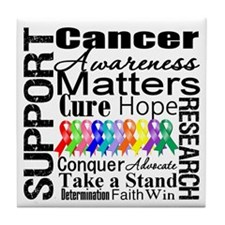 Support All Cancers Tile Coaster