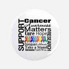"Support All Cancers 3.5"" Button"