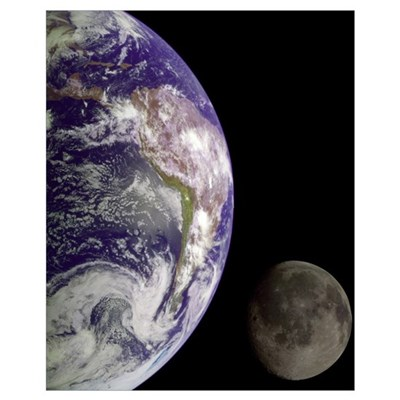 """""""Earth and Moon"""" Poster"""