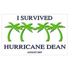Survived Hurricane Dean Canvas Art