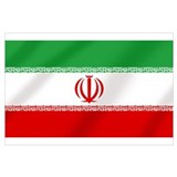 Iran flag Wrapped Canvas Art