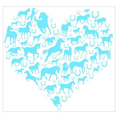 Horse Heart Art Poster