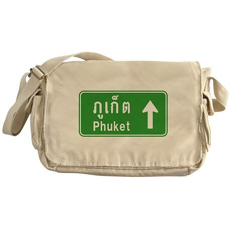 Phuket Highway Traffic Sign Messenger Bag