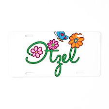 Itzel Flowers Aluminum License Plate
