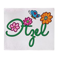 Itzel Flowers Throw Blanket