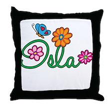 Isla Flowers Throw Pillow