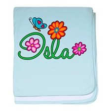 Isla Flowers baby blanket