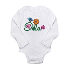 Isla Flowers Long Sleeve Infant Bodysuit