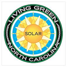 Living Green North Carolina Solar Energy Mini Post Poster
