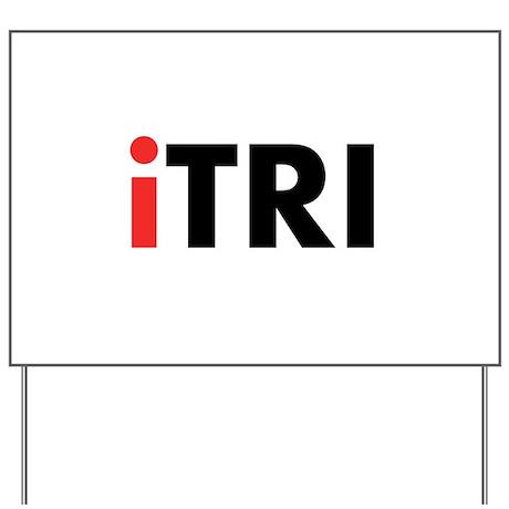 iTRI Triathlon Yard Sign
