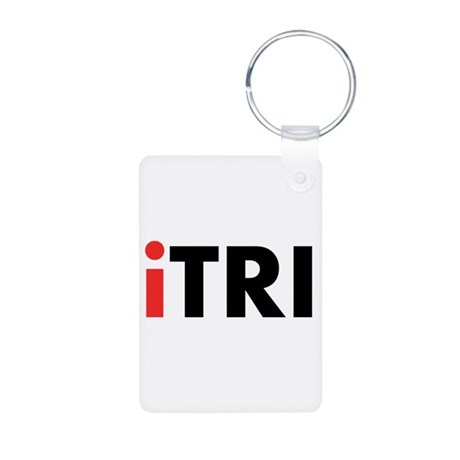 iTRI Triathlon Aluminum Photo Keychain