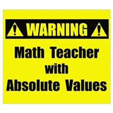 WARNING: Math Teacher 2 Framed Print