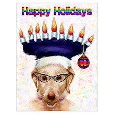 Kool Happy Holiday Dog Poster