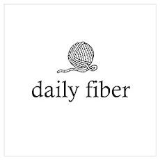 Daily Fiber - Yarn Ball Poster