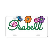 Isabell Flowers Aluminum License Plate