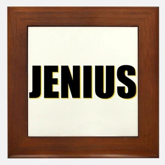 Jenius Genius Framed Tile