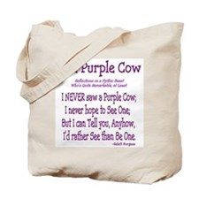 Purple Cow / Farm Tote Bag