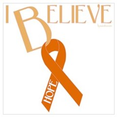 Orange Ribbon Canvas Art
