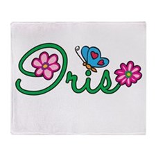 Iris Flowers Throw Blanket