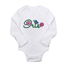 Iris Flowers Long Sleeve Infant Bodysuit
