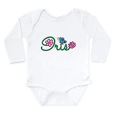 Iris Flowers Long Sleeve Infant Bodysuit