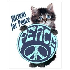 Kittens For Peace Anti-war Poster