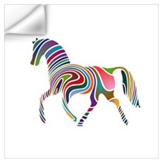 Horse Of Many Colors Wall Decal