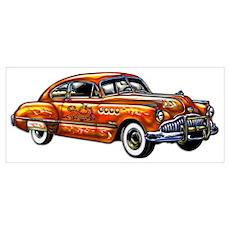 Hard Top Two Door Classic Car Poster