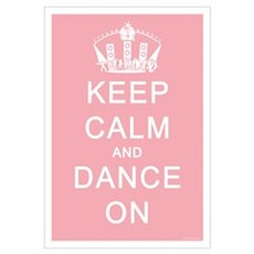 Keep Calm and Dance On (Blue) Canvas Art