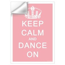 Keep Calm and Dance On (Blue) Wall Decal