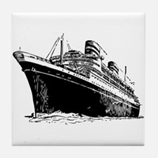 Ocean Liner Ship Tile Coaster