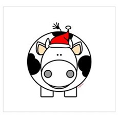 Holiday Cow Poster