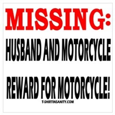 HUSBAND AND MOTORCYCLE MISSIN Poster