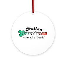 Italian Grandmas Ornament (Round)