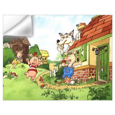 The Pigs and the Wolf Wall Decal