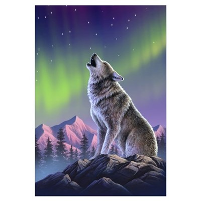 Howling Wolf 2 Canvas Art